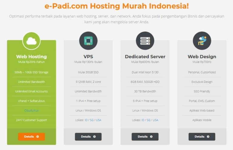 hosting review e-padi