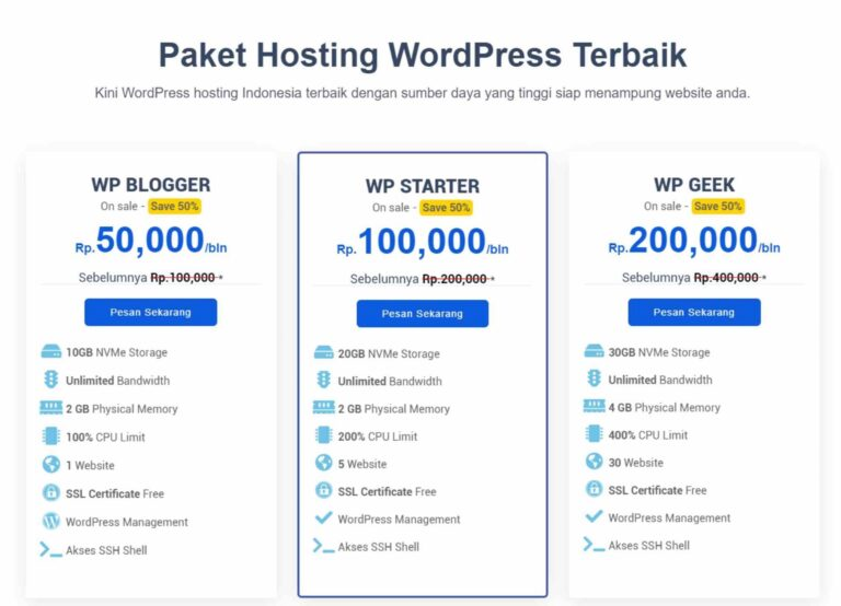 wordpress hosting review warnahost